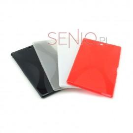 Dedykowane, silikonowe etui (plecki) do tabletu Sony Xperia Z3 Compact 8 (SGP621/SGP641) – czarne, dopasowane