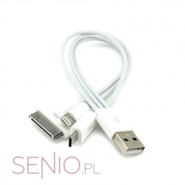 Przejściówka – adapter: wtyk USB do micro-USB + iPad 1, 2, 3 + iPad 4