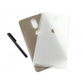 Grafitowe, elastyczne plecki na telefon / phablet / tablet Lenovo PHAB 2 Plus PB2-670N, 670M, 670 6.4 cala