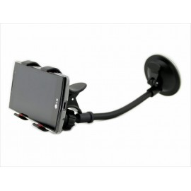 Samochodowy uchwyt na smartphone z przyssawka na szybę - długa gęsia szyja