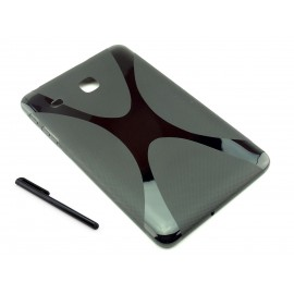 CZARNE silikonowe etui do tabletu Samsung Galaxy Tab E 8.0 T375, T377