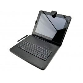 Etui z klawiaturą USB do tabletu 9,7-calowego   pokrowiec na tablet Kiano Pro 10 Dual, GoClever, Tracer, Yarvik