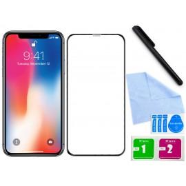 Zaokrąglone szkło hartowane do telefonu Apple iPhone X (A1865, A1901) - w dobrej cenie, 9H, tempered glass