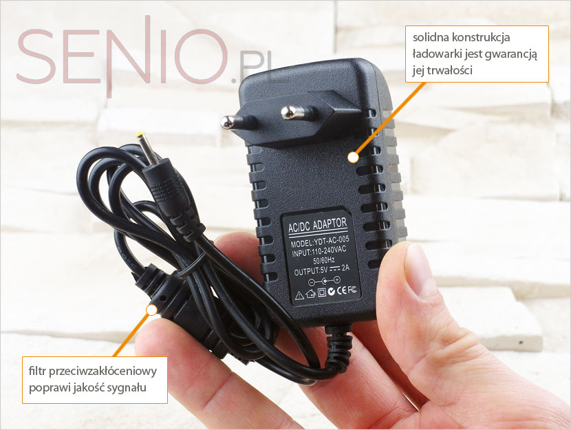 Ładowarka sieciowa do Kiano Core 10.1 Dual