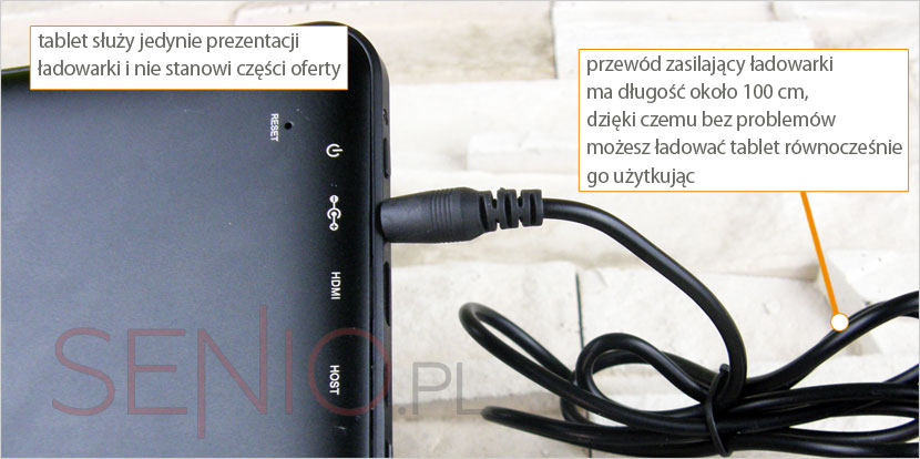 Zasilacz w tablecie Manta Duo Power 10 HD MID1002