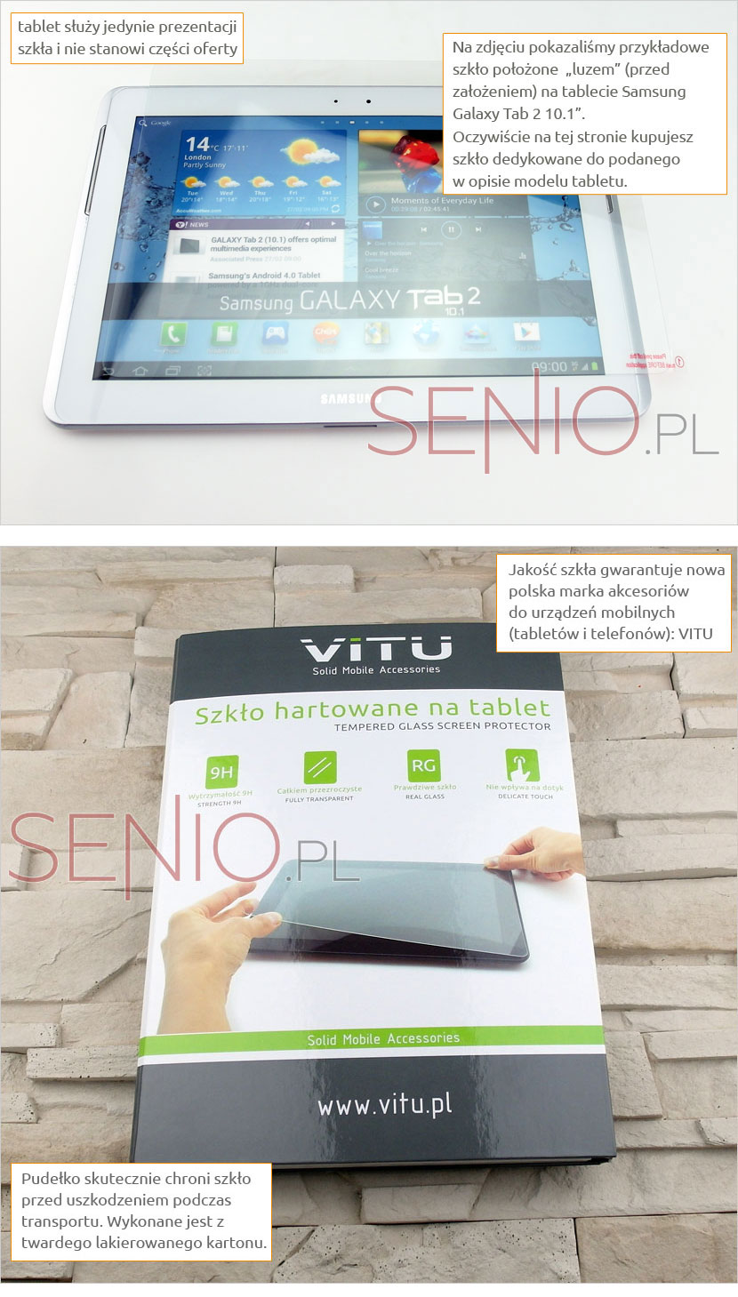 Szkło hartowane do tableta Lenovo Tab 3 TB3-850M / TB3-850F
