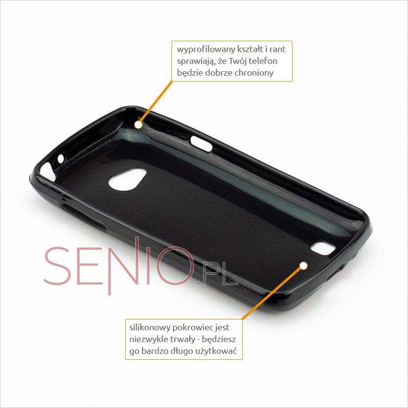 przyciski silikonowe w etui do  LG L 50