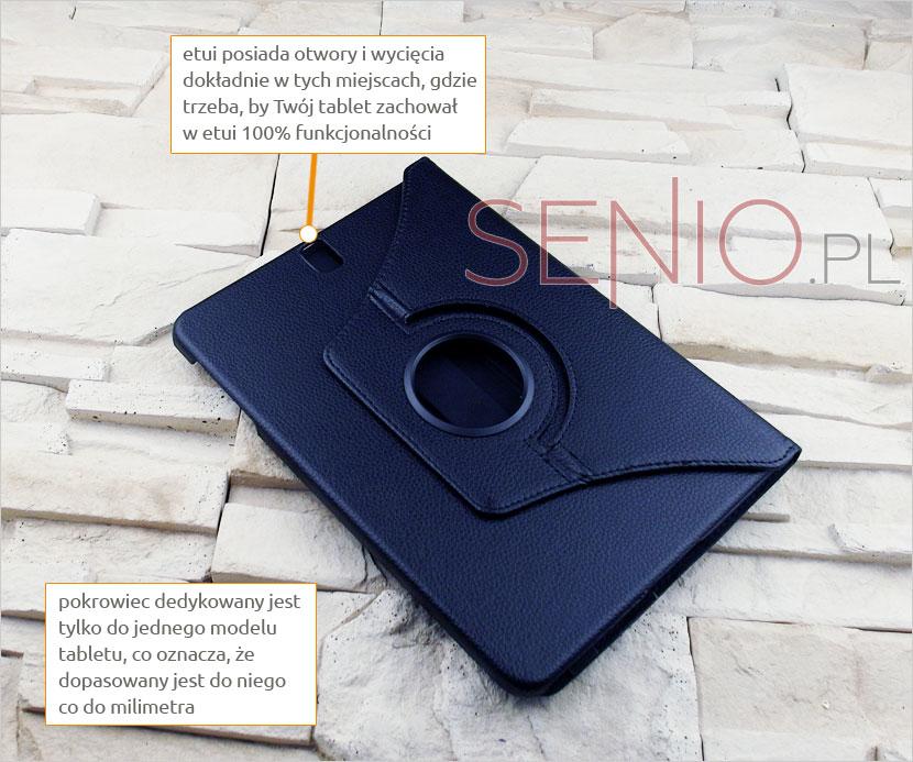 Etui książkowe obrotowe na tablet Samsung Galaxy Tab S3 9.7 T820 T825