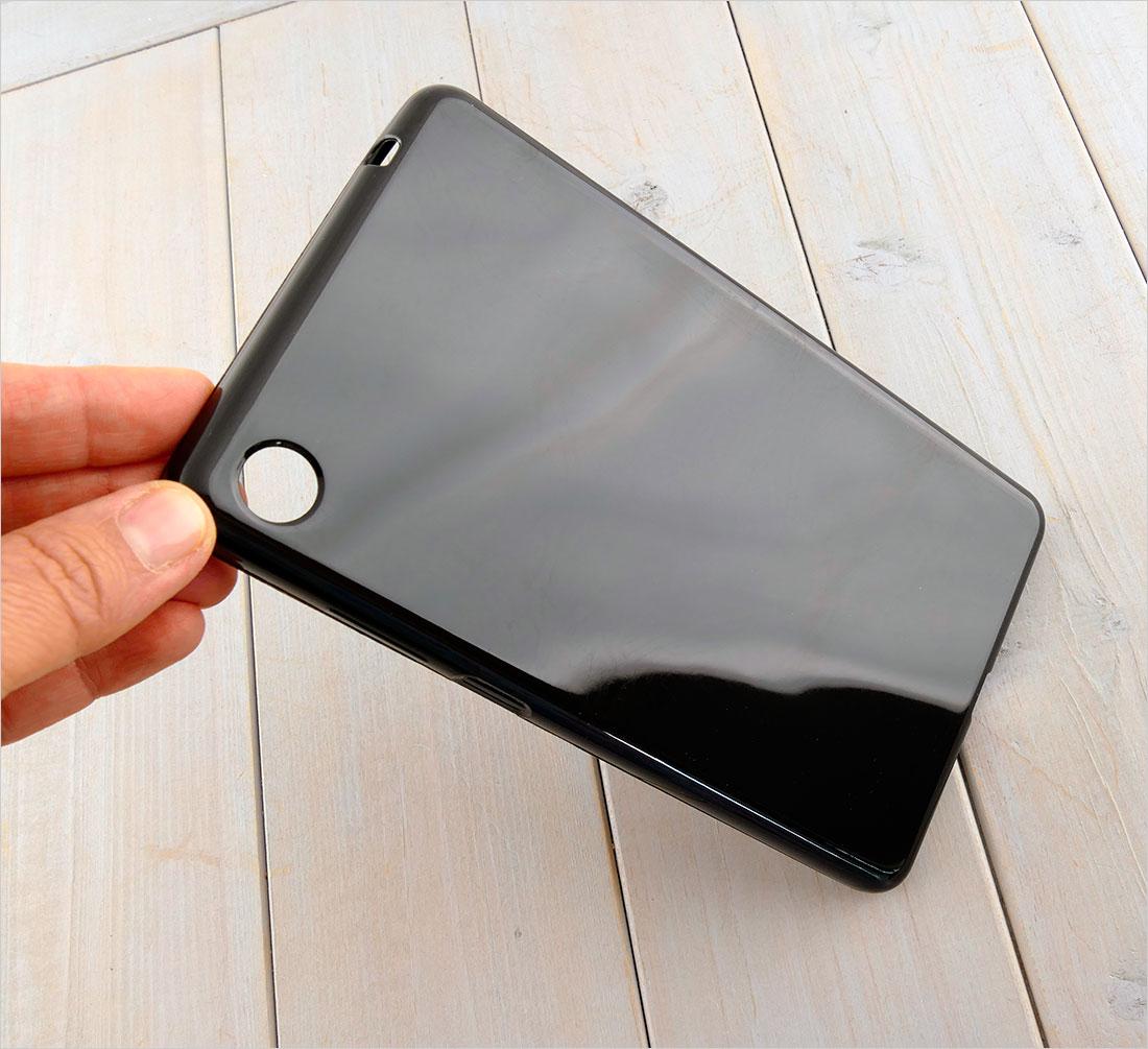 CZARNE silikonowe etui do tabletu Lenovo Tab M7