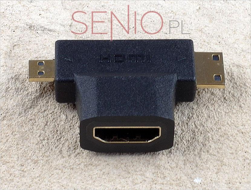 Przejściówka HDMI do mini HDMI i micro HDMI