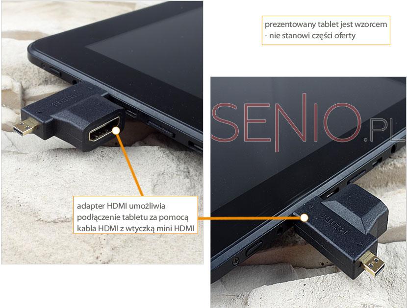 Adapter HDMI umożliwia podłączenie tbletu