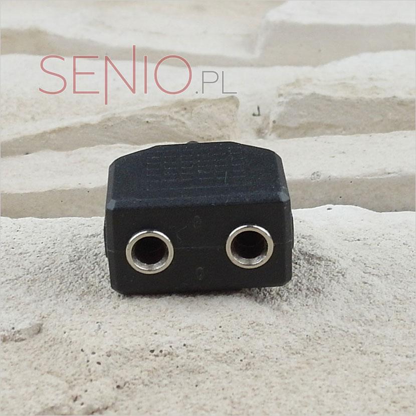 ozgałęźnik krótki: mini-jack 3,5 mm - 2 x mini-jack