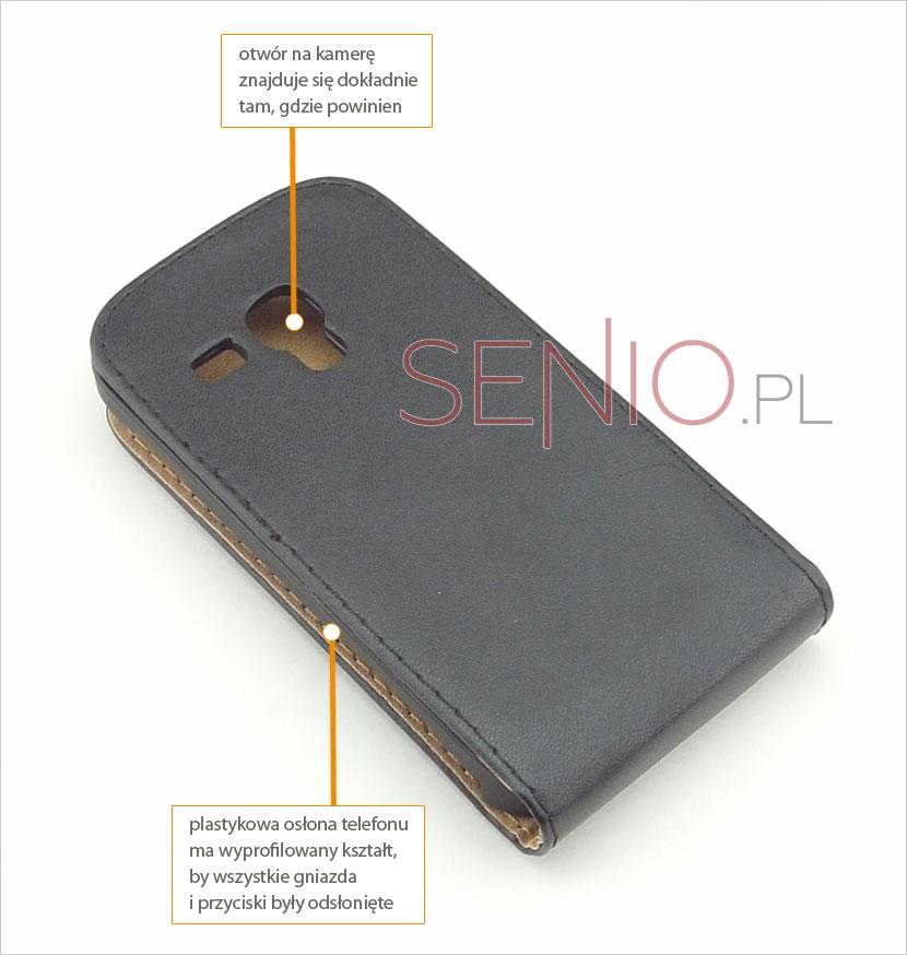 Klasyczny futerał zamykany do telefonu Samsung Galaxy S3 i8190