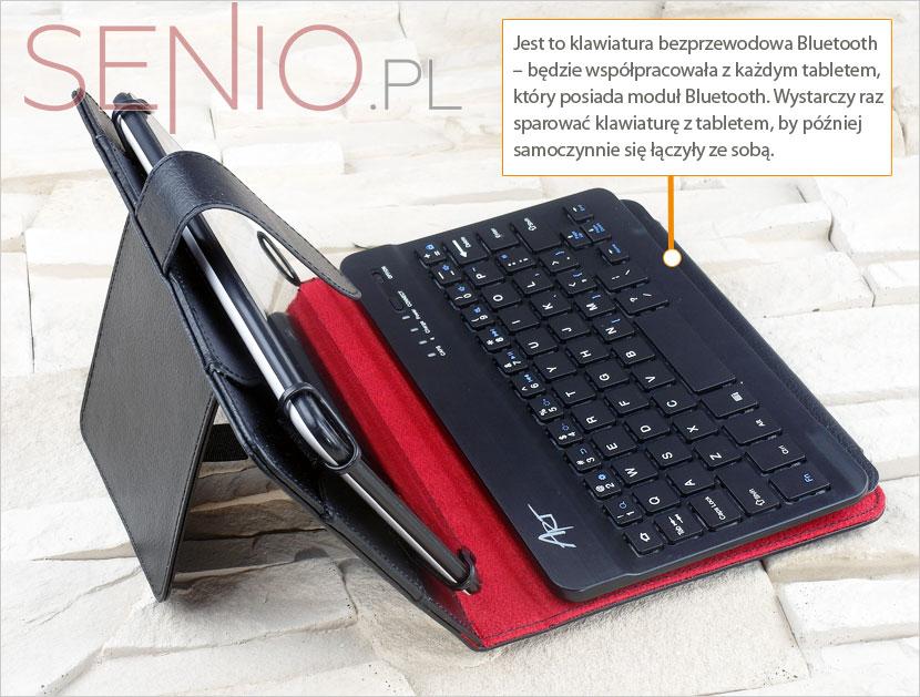 Etui na tablet 7 calowy wyposażony w klawiaturę bluetooth