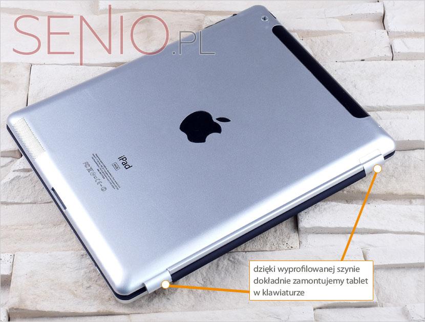 Klawiatura do tabletu iPad 2 i nowego iPada z regulowanym magnetycznym zaczpem