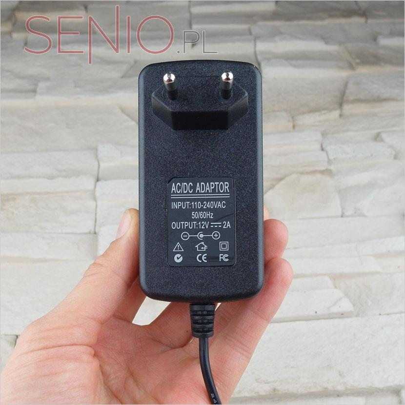 Ładowarka sieciowa do tabletu 12V 2A (2000mA) – wtyk 2,5mm