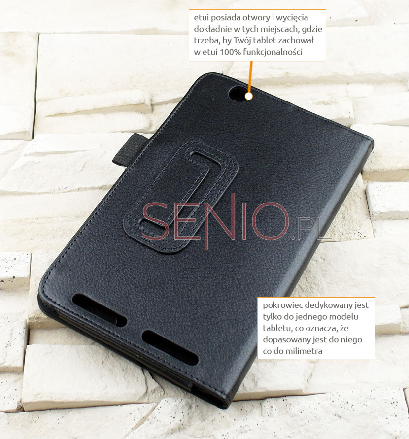 Etui z wyprofilowanymi otworami na tablet ACER ICONIA ONE 7 B1-750