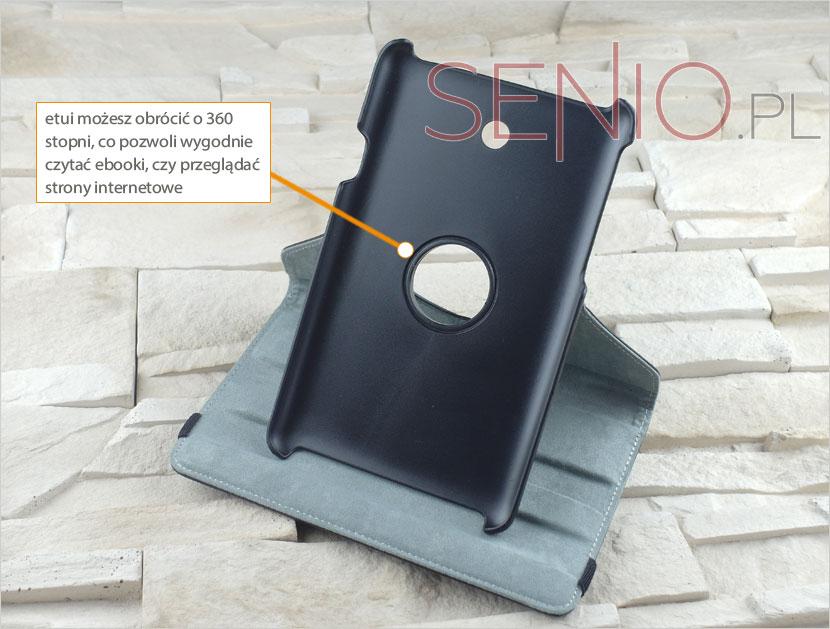 Praktyczne etui z podstawką na tablet Asus Fonepad 7 (ME372CG) do czytania i oglądania