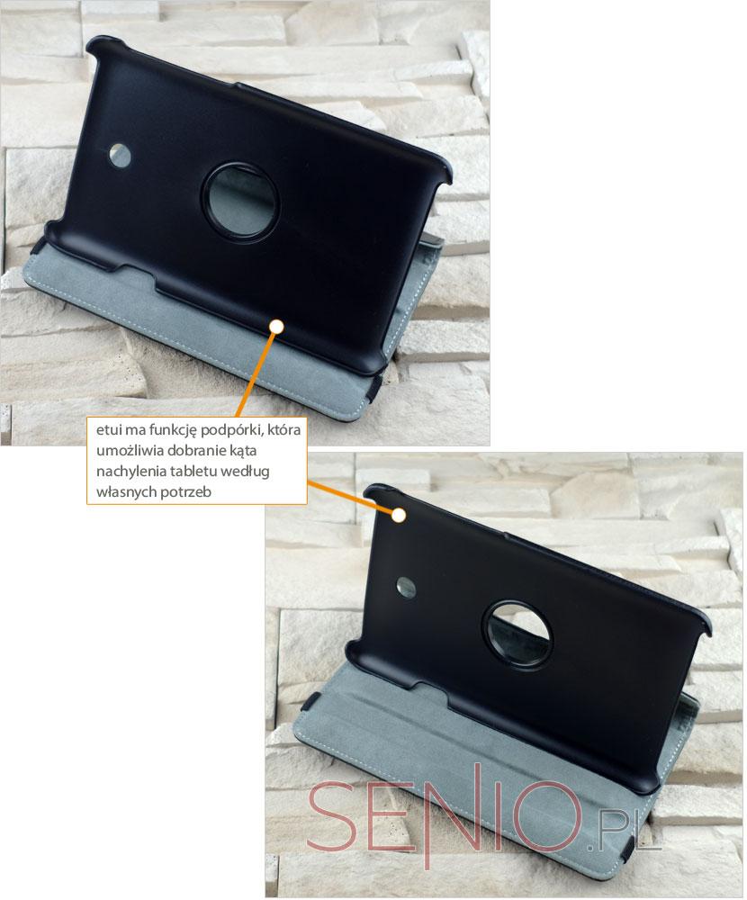 Pokrowiec dedykowany do tabletu Asus Fonepad 7 ME372CG z funkcją regulacji nachylenia