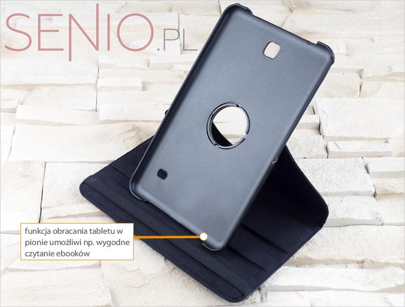 Etui dedykowane do tabletu Samsung Galaxy Tab 4 8.0 (T330 y funkcja ustawienia w pionie