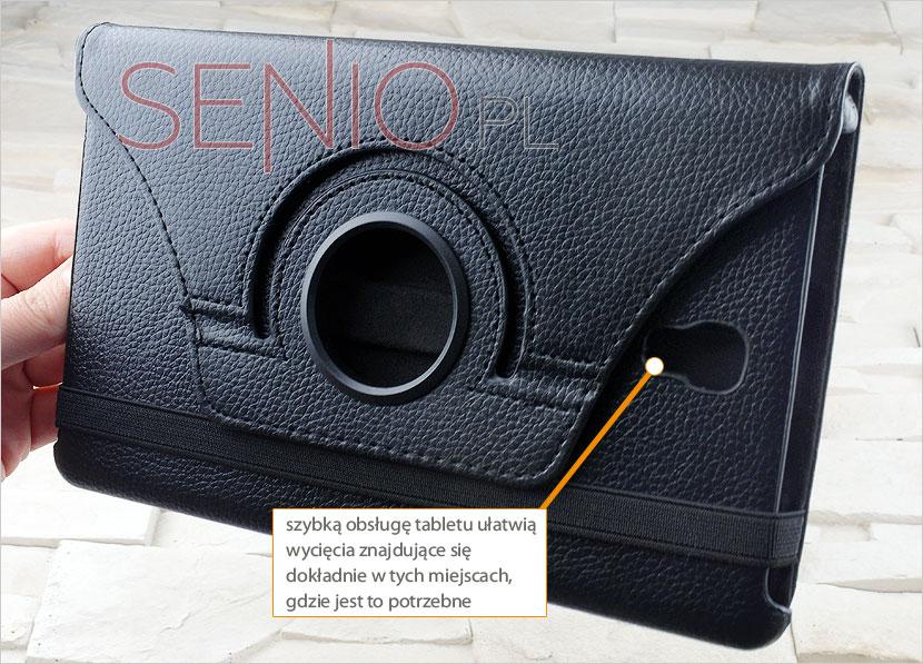 Wyprofilowany otwory w pokrowcu na tablet Samsung Galaxy Tab S 8.4 (T700)