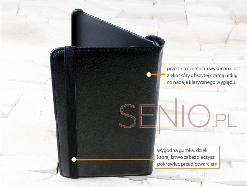 Klasyczny dobrze obszyty pokrowiec rekomendowany do tabletu Samsung Galaxy Tab S 8.4 (T700)