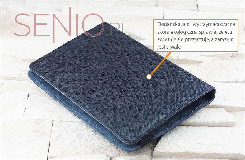 Elegancki wykonany ze skóry ekologicznej pokrowiec na tablet 8 cala