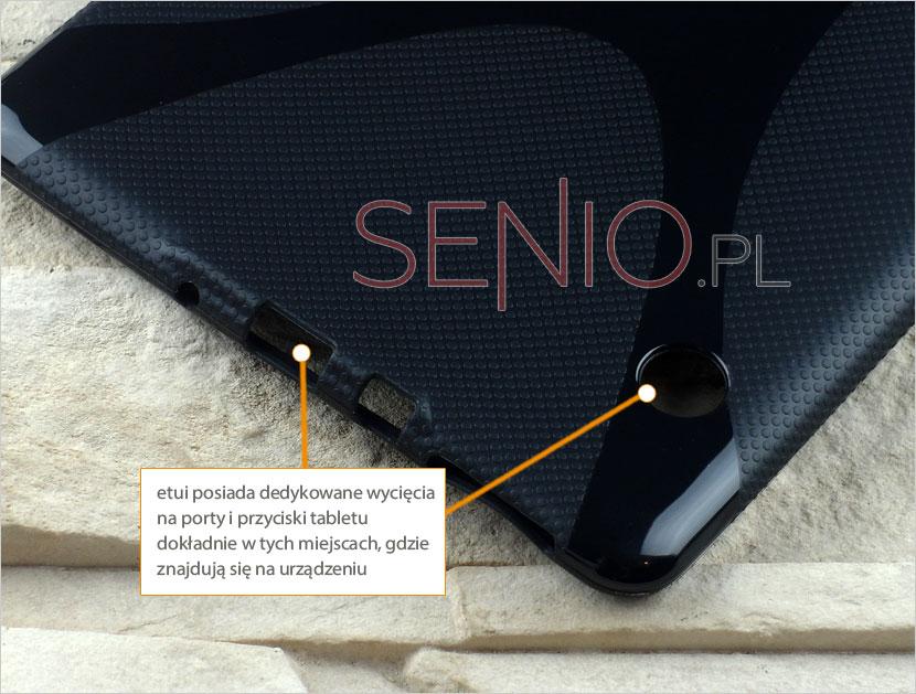 Pokrowiec na tablet z giętkiego i elastycznego materiału