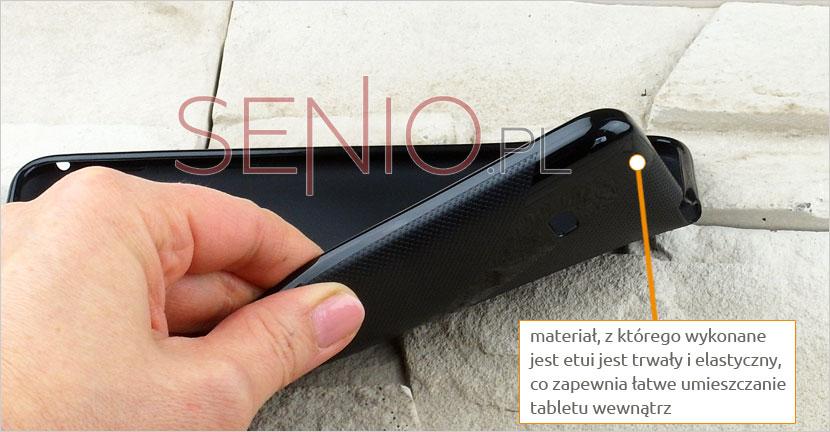 Elastyczny i praktyczny pokrowiec zapewniajacy ochronę urządzenia Samsung Galaxy Tab 4 7.0 (T230 / T235)