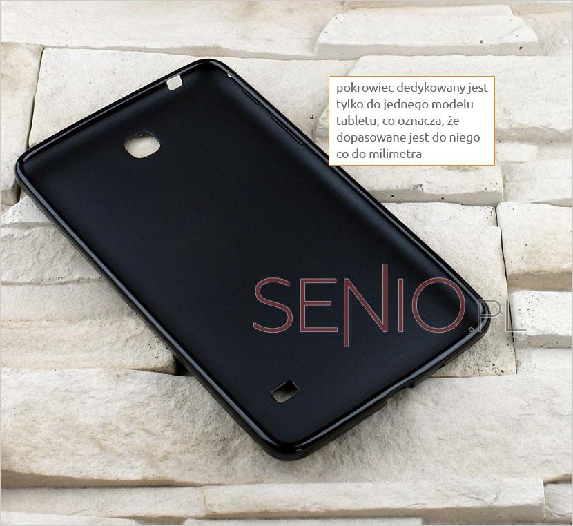 Pokrowiec z silikowanego materiału dedykowany na tablet Samsung Galaxy Tab 4 7.0 (T230 / T235)