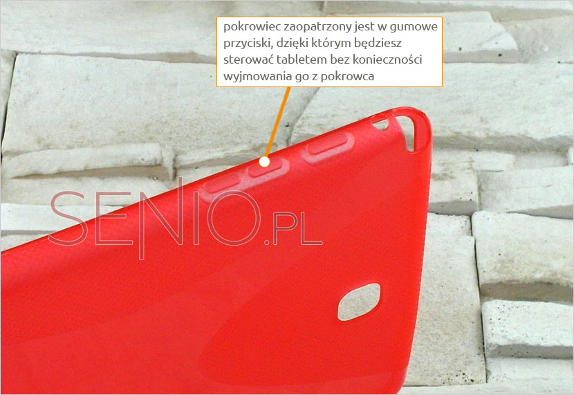 Silikonowe plecki z przyciskami dedykowanymi do Galaxy Tab A 8.0 (T350 / T355)