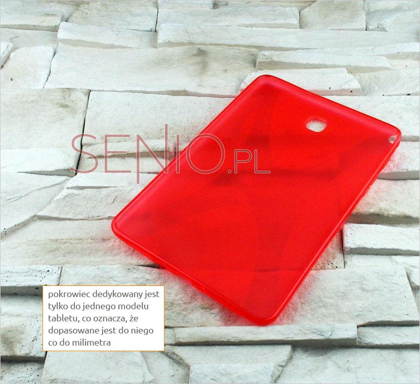 Czerwony silikonowy pokrowiec dedykowany do modelu tabletu Galaxy Tab A 8.0 (T350 / T355)