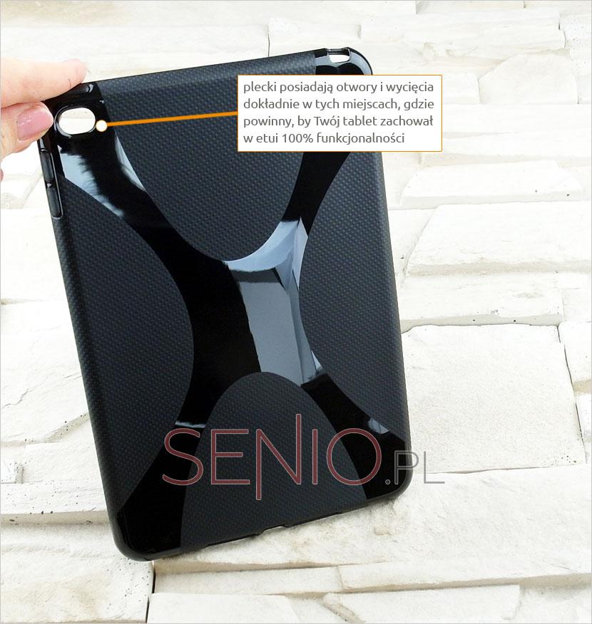 Elegancki i klasyczny pokrowiec silikonowy dopasowany do  Apple iPad mini 4