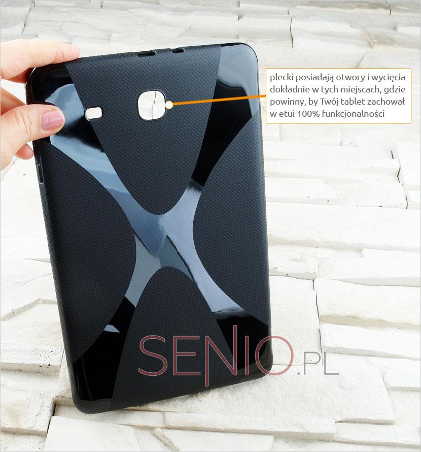 Plecki pokrowca silikonowego dopasowane rozmiarami i wycięciami do tabletu Samsung Galaxy Tab E 9.6 (T560)