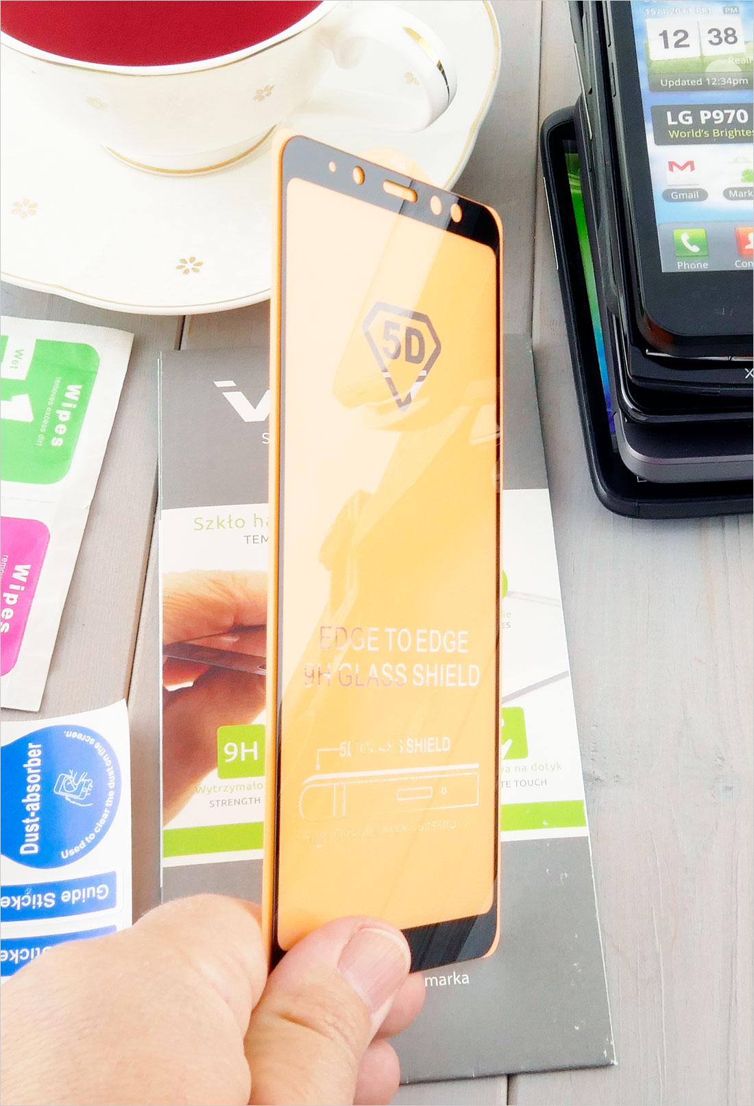 solidne szkła 3D na telefony dotykowe  Samsung Galaxy A8+ (Plus) 2018 (SM-A730F)