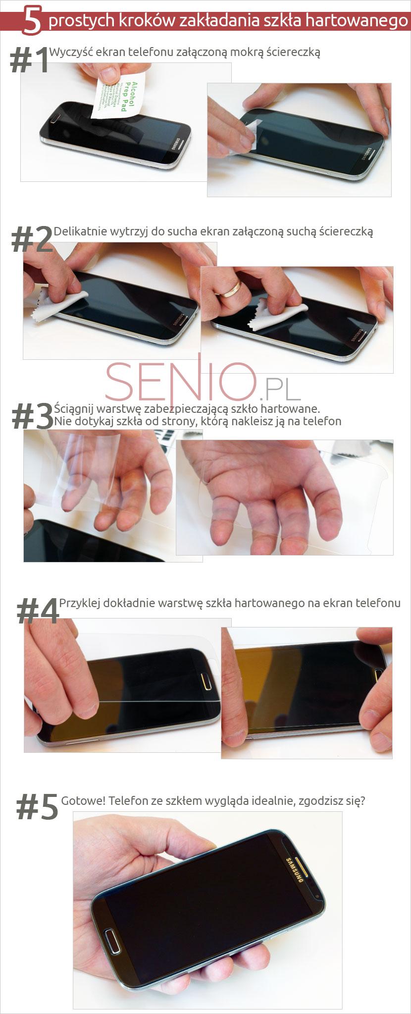 hartowane szkło na ekran dotykowy  Samsung Galaxy Note 4