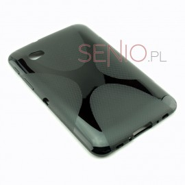 Czarne silikonowe etui do tabletu Samsung Galaxy Tab 7.0 Plus (P6200)