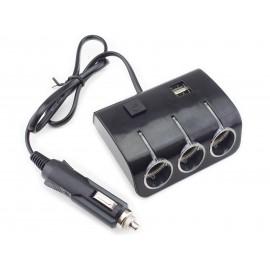 Rozdzielacz gniazda zapalniczki samochodowej 3 plus USB