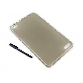 CZARNY / GRAFITOWY pokrowiec elastyczny (plecki) na tablet Huawei Honor X2 7 cali