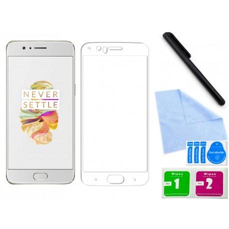 Szkło hartowane 3D do telefonu OnePlus 5 w bardzo dobrej cenie, zaokrąglone, curved, tempered glass, 9H