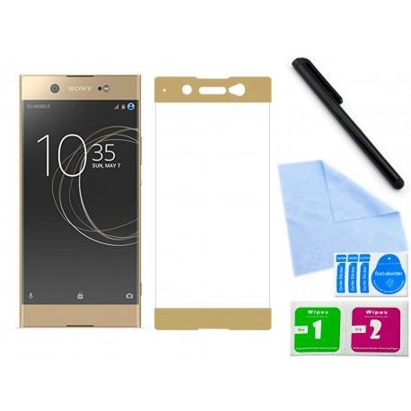 Zaokrąglone szkło hartowane 3D do telefonu Sony Xperia XA,1 Ultra na cały ekran, curved, 9H, tempered glass, dobra cena