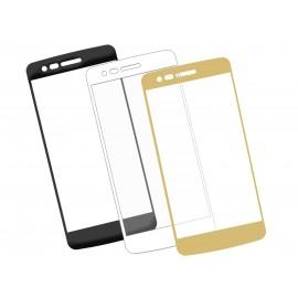 Szkło hartowane 3D do smartfonu LG K8  2017- na cały ekran, curved, 9H, tempered glass, dobra cena