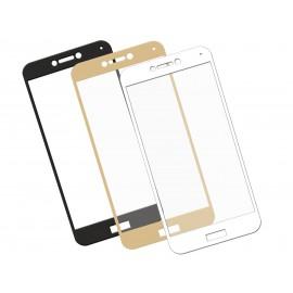 Zaokrąglone szkło hartowane 3D do telefonu Huawei P8 lite 2017 - na cały ekran, w dobrej cenie, 9H, curved, tempered glass